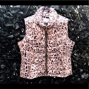 CALVIN KLEIN Leopard Print Puffer Vest